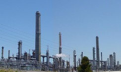 View of the Shell Martinez oil refinery