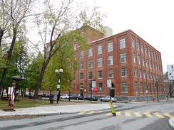 Solin Hall, situated in Saint-Henri near Lionel-Groulx Station, serves as an off-campus apartment style dorm.