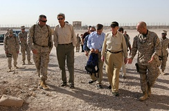 Senator Kerry in Iraq in September 2005