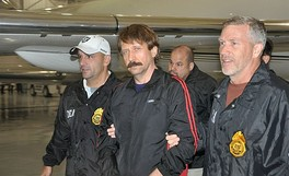 Viktor Bout extradited to the United States aboard a Drug Enforcement Administration plane.
