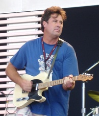Gill playing at the 2007 Crossroads Guitar Festival