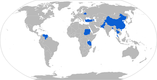Map of Weishi operators in blue