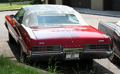 1971 convertible, rear view
