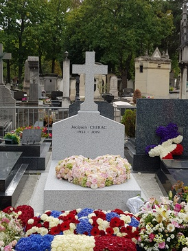 Chirac's grave in Montparnasse Cemetery, 2 October 2019