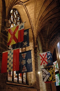 Banners of Knights of the Thistle, hanging in St Giles High Kirk