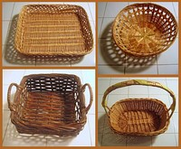 Four different styles of baskets