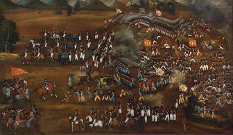 Battle of Sultanabad, 13 February 1812. State Hermitage Museum.