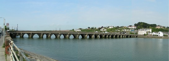A view of Bideford long bridge.