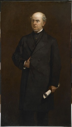Portrait of Adams in 1867 by William Morris Hunt