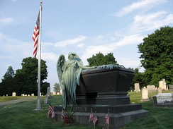 Arthur's grave at Albany Rural Cemetery in Menands, New York