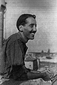 Flying Officer C. F. C. Lee in Vatican City, 1944, soon after the Liberation of Rome