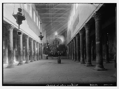 The interior of the Church of the Nativity in the 1930s