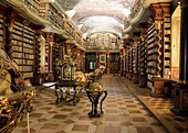 Library hall of the Clementinum in Prague (the Czech Republic), built 1722
