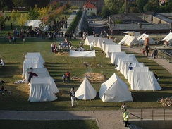 Reenactment of military camp at Petersberg Citadel, 200th anniversary of Congress of Erfurt, September 2008.