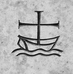 A common symbol of ecumenism symbolises the Christian Church as a cross depicted as the mast on a boat at sea.[1]