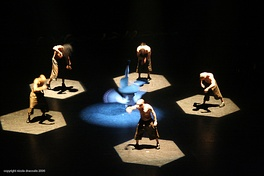 French hip-hop dance company Franck II Louise performing at Breakin' Convention 2006.