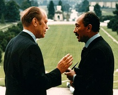 Ford with Anwar Sadat in Salzburg, 1975