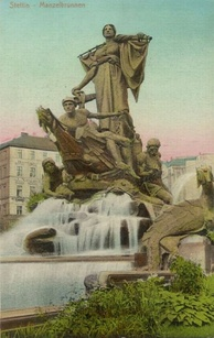 Sedina Monument (1899–1913). Sedina was a personification of Stettin. The statue was scrapped for copper in 1942, and after the war it was replaced with an anchor. In 2012 the authorities approved plans for a reconstruction of the statue
