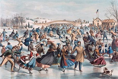 The Skating Pond in Central Park, 1862