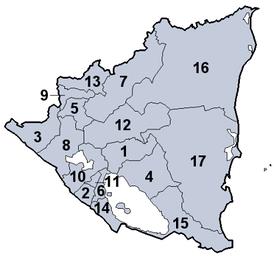 Департаменты Никарагуа