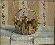 Still Life: Apples and Pears in a Round Basket, 1872. The Henry and Rose Pearlman Collection, on long-term loan to the Princeton University Art Museum