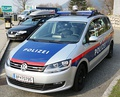 Mark 2 Sharan as a police vehicle in Austria