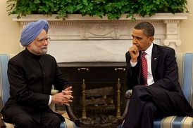Manmohan Singh with President Barack Obama at the White House