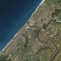 Rabat as seen from Spot Satellite