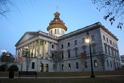 The South Carolina State House in Columbia, South Carolina, an epitome of the American Federal style of architecture.