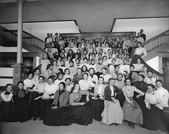 Students of the opening year of the newly constructed San Diego Normal School.