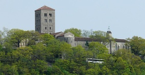 The Cloisters from the Hudson River