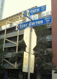 Tony Gwynn Drive outside of Petco Park.