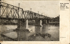 View across the Rio Grande at Laredo, Texas (postcard, circa 1909)