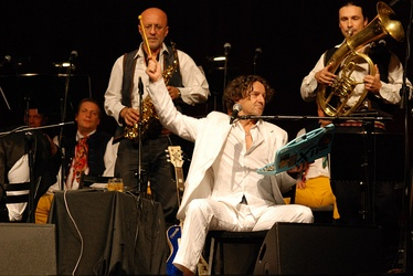 Goran Bregović performing live with his orchestra