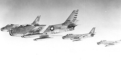 126th Fighter-Interceptor Squadron - F-86A Sabre formation, 1954