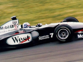 Coulthard took pole position, but retired from the race