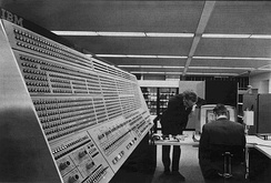 This image of the IBM System 360 Model 91 operator's console, was taken by NASA sometime in the late 1960s.