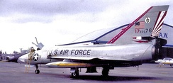 49th FIS Convair F-106A Delta Dart, AF Ser. No. 59-0076, in Bicentennial markings, 1976