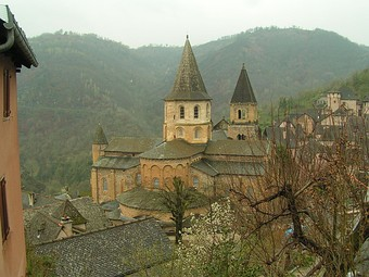 The Abbey of Saint Foy, Conques, France, was one of many such abbeys to be built along the pilgrimage Way of St James that led to Santiago de Compostela.