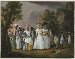 Agostino Brunias. Free Women of Color with Their Children and Servants in a Landscape Brooklyn Museum