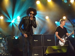 William Duvall and Jerry Cantrell performing on Jimmy Kimmel Live! in 2013.