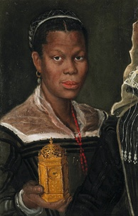 Portrait of an African Slave Woman, probably painted by Annibale Carracci in the 1580s
