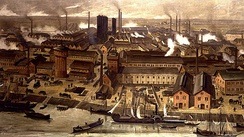 The BASF Chemical factories in Ludwigshafen, 1881