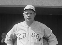 Babe Ruth, prior to his trade to the Yankees