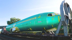 An airliner fuselage, such as this Boeing 737, forms a cylindrical pressure vessel