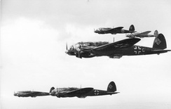 A formation of He 111Hs, circa 1940