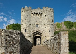 The gatehouse entrance to the castle