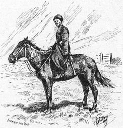 Карачаевец на лошади. (Cavalier Koratchai. Grove, Florence Craufurd. Le Caucase. 1899. P.32).