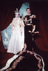 Newly crowned Queen Elizabeth II and her husband Prince Philip.