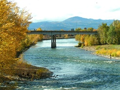 Clark Fork River, Missoula, in autumn
